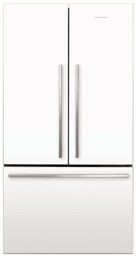 Fisher & Paykel French Door Fridge Freezer (RF610ADW4) has ActiveSmart system of microprocessors and sensors to monitor usage and adjust airflow (RRP $2,599).