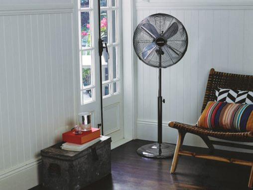 Kambrook Arctic Pedestal Fan (KPF433, RRP $89.95) This height adjustable fan has an 80-degree oscillation range and can disperse cool air like a pleasant zephyr — great for hot days in late summer.