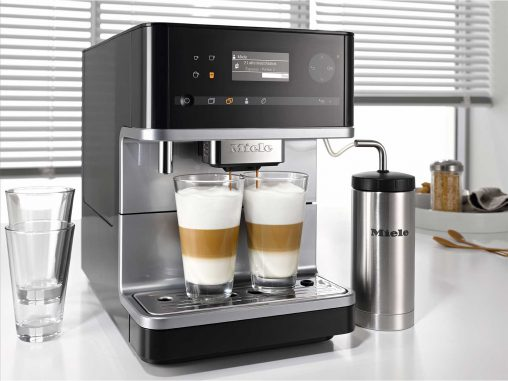 Miele Benchtop Coffee Machine (CM 6300, RRP $1,599) The new CM 6300 Benchtop Coffee Machine lets users save up to up to four personalised beverages with their desired flavour intensity, and customise the grind, ground quantity, percolation temperature and water quantity.