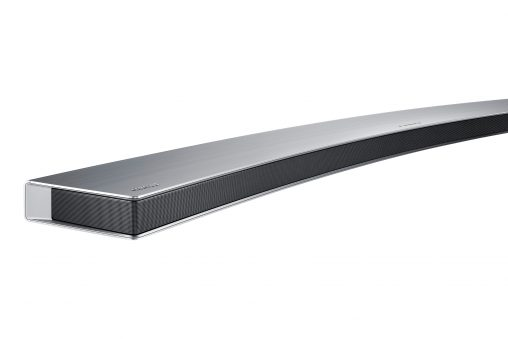 Samsung has launched a new range of curved Soundbars to complement its curved TVs. This is the Series 8 (HW-J8501, RRP $1,699). There are also models for RRP $999 and RRP $1,399.
